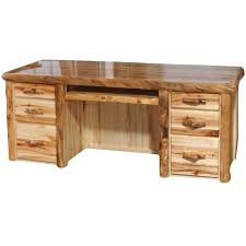 how to build rustic furniture. Contemporary Furniture Rustic Aspen Log Executive Desk By Furniture Of Regarding  Plans To How Build Rustic Furniture