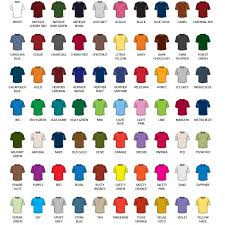 Gildan Color Chart Hoodies Hoodie T Shirt Color Chart Please Click Here For