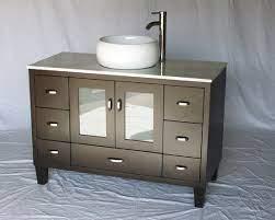 46 Inch Bathroom Vanity Vessel Sink Top Modern Style Espresso Color 46 Wx21 Dx36 H S2292