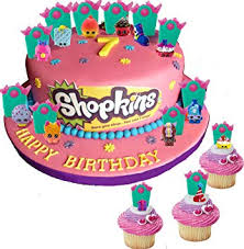 Shopkins Party Cupcake Cake Toppers With Surprise Shopkins Figure