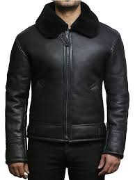 men s aviator b3 shearling sheepskin leather jacket
