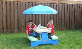 image of little tikes picnic table kids
