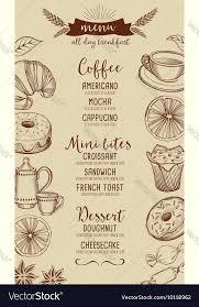 Coffee Restaurant Cafe Menu Tea Board Template
