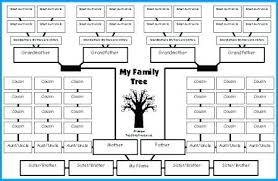 Excel Genealogy Templates Excel Family Tree Template Family Tree Lesson Plans Large Tree