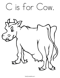 Small Picture Cow Coloring Pages Twisty Noodle