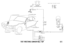 1967 mustang wiring and vacuum diagrams average joe restoration 1967 mustang power top pictorial and schematic