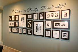 display family photos wall gallery