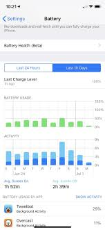 Xs Battery Chart How To See Whats Using Battery Life On Your Iphone Or Ipad