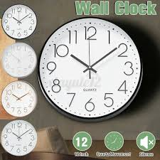 12 inch wall clock silent non ticking