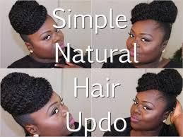 Natural Formal Hairstyles Natural Hair Simple Updo Using Marley Hair Tutorial Youtube