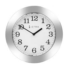 istra london whitestainless steel wall clock  cm  black by design