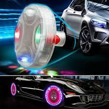 ... LED Solar Auto Motorrad Ventilkappe Felgen Reifen Licht Lampe  Beleuchtung Flash 9