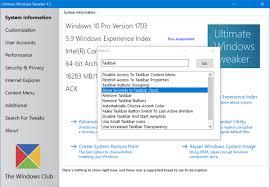 Windows 1 Ultimate Windows Tweaker 4 For Windows 10