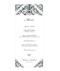 Menu Template Wedding Tailoredswift Co