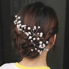 <b>1 PC New</b> Fashion Bridal Hair Accessories Pearl Beaded <b>Crystal</b> ...