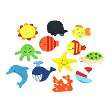<b>12pcs</b> Novelty Animals Wooden Fridge Magnet Sticker <b>Cute Funny</b> ...