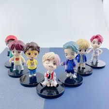 See more ideas about blackpink, kpop fanart, kpop drawings. Bangtan Boy Groups Doll Model Cute Anime Character Kpop Star Idol Mini Figures B T S Model Toys Gift Action Figures Aliexpress
