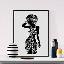 beautiful black woman canvas art print poster african woman art canvas painting wall pictures home  on african woman wall art with beautiful black woman canvas art print poster african woman art