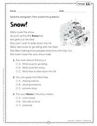 3rd Grade Reading Comprehension Worksheets Multiple Choice As Well ...