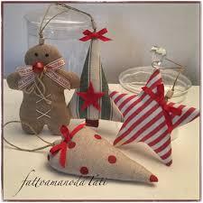 Decorazioni natalizie b in cotone gingerbread stella albero e