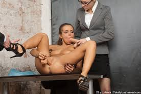 Totally Undressed DPed Dildo Slave Of Two Staff Managers 236863.