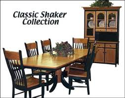 alternate view of clic shaker dining room furniture