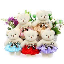 Teddy Bear Design Us 7 6 35 Off Lovely Cute Hat Baby Girl Teddy Bear Mini Model Bow Design Plush Toys For Wedding Party Home Decoration Toys In Stuffed Plush