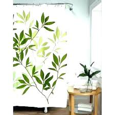 green leaves shower curtain tropical leaf brave fall