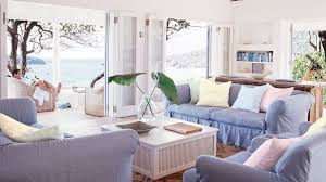 beach living room decorating ideas. Folding Doors Completely Open Up This Beach Living Room To The Outdoor Patio Decorating Ideas L