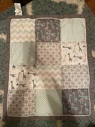 uptown girl giraffe patchwork 7 piece