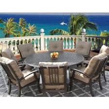 round outdoor dining sets. Barbados Cushion Outdoor Patio 9pc Dining Set For 8 Person With 71\ Round Outdoor Dining Sets