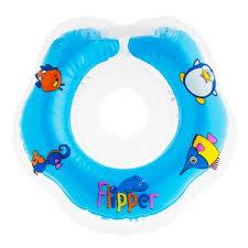<b>Круг для купания</b> новорожденных Flipper (голубой)