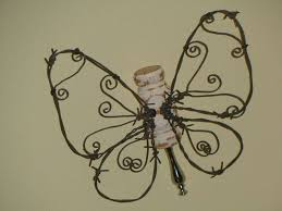 barbed wire wall butterfly craft hometalk