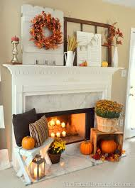 Cheap easy fall decorating ideas Diy Exciting Fall Mantel Decor Ideas 12 Of 87 Vintage Shutters And Doors Are Perfect Things To Hang Wreath Or Bunting On And Shelterness 87 Exciting Fall Mantel Décor Ideas Shelterness