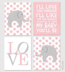 >baby girl nursery elephant personalized wall art print child  baby girl nursery elephant personalized wall art print child animal wall print choose colors