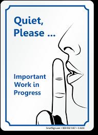 Quiet Please Meeting In Progress Sign Quiet Please Signs