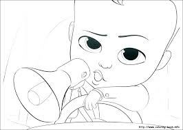Boss Baby Coloring Pages Free Baby Coloring Pages Free Boss Baby