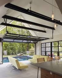 Concept Folding Glass Garage Doors These Are Easy To Describe Some Sectional Inside Models Design