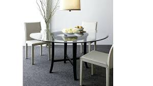 crate barrel dining table and round