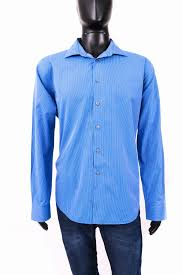 Details About S Calvin Klein Mens Shirt Tailored Stripes Blue 17 1 2