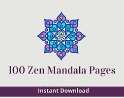 40+ zen coloring pages for printing and coloring. Zen Coloring Pages Etsy