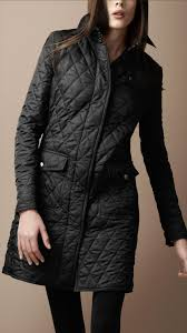 Burberry brit Diamond Quilted Trench Coat in Black | Lyst & Gallery. Women's Quilted Coats Women's Burberry ... Adamdwight.com