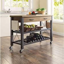 Kitchen Shelf Decorating Kitchen Awesome Kitchen Cart Decorating Ideas With Black Metal