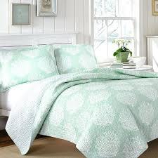 seafoam green bedding sea foam coast mist reversible 3 piece cotton quilt green comforter seafoam green