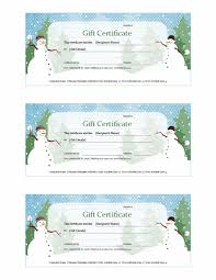 holiday template word holiday gift certificate snowman design free certificate