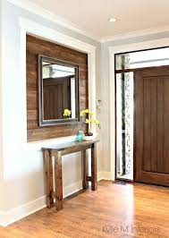 narrow entry table. Narrow Entry Table Made Of 2x4 Stained Wood Alcove Or Niche In Entryway . I