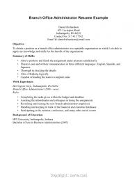 Cover Letter Creative Office Administrator Resume Summary Branch