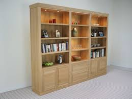 console bookcase solid oak led downlighting