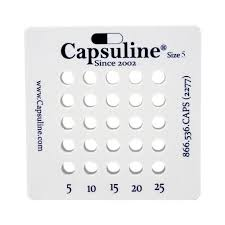 Size 5 Capsule Holding Tray By Capsuline 25 Count