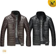 Quilted Leather Down Winter Jacket for Men CW860035 & Quilted Leather Jacket mens CW860035 www.cwmalls.com Adamdwight.com